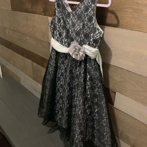 Girls formal black gray dress size 16
